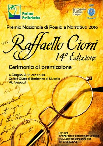 """La finale del Premio di poesia e narrativa """"Raffaello Cioni"""""""