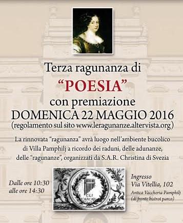 Cerimonia di premiazione della Terza Ragunanza di Poesia