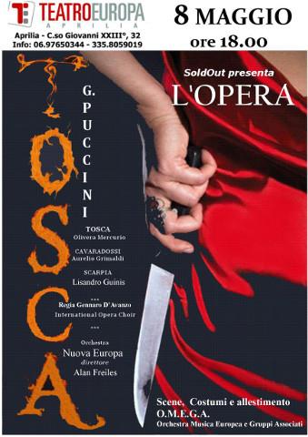 La Tosca di Puccini al Teatro Europa di Aprilia