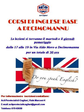 Corso di inglese base a Decimomannu