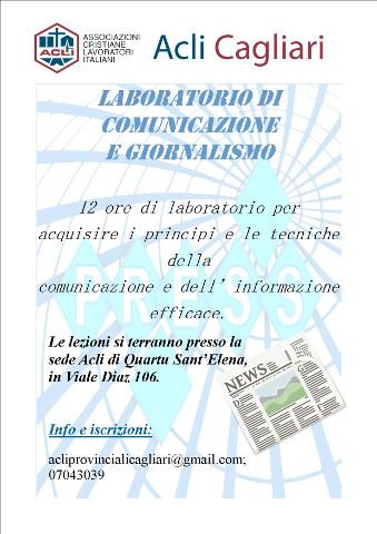 Laboratorio di comunicazione e giornalismo a Quartu Sant'Elena