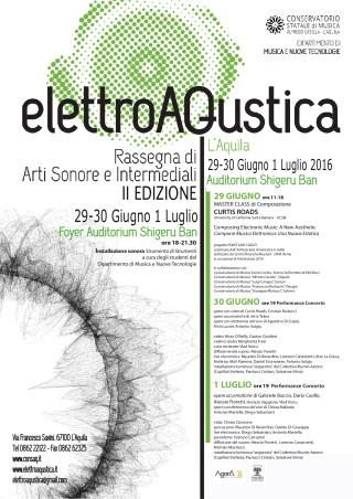 A L'Aquila torna la rassegna ElettroAQustica