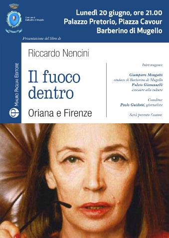 """Riccardo Nencini presenta il suo """"Il fuoco dentro"""" a Barberino"""