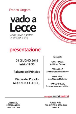 """Franco Ungaro presenta il suo libro """"Vado a Lecce"""" a Muro Leccese"""