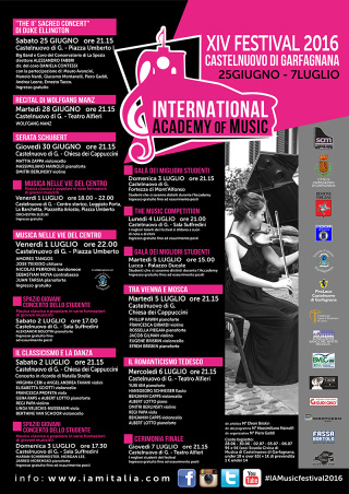 Al via la 14^ edizione dell'International Academy of Music Festival