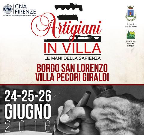 """""""Artigiani in Villa"""" torna a Borgo San Lorenzo"""