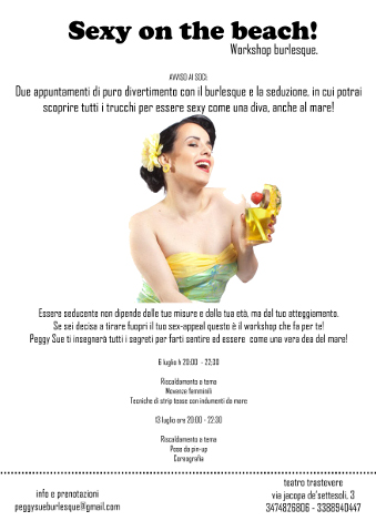 """Sexy on the beach!"", workshop di burlesque a Roma"