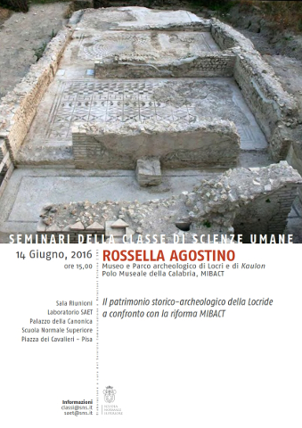 Patrimonio storico-archeologico della Locride e riforma MiBACT: seminario a Pisa