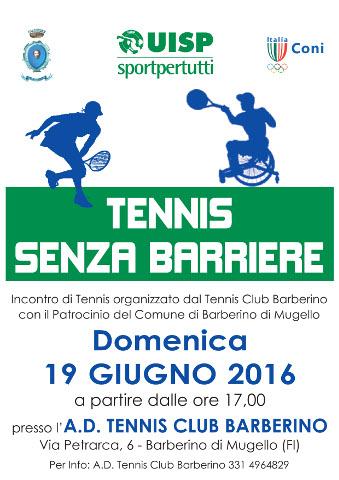 Barberino di Mugello dedica una giornata al Wheelchair Tennis