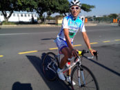 Stefano Caredda in sella alla bici