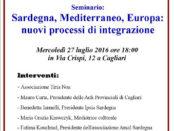 il seminario Sardegna, Mediterraneo, Europa a Cagliari