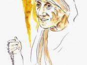 Madre Teresa in un ritratto di Francesco Guadagnuolo