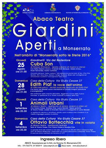 """A Monserrato prosegue """"Giardini Aperti"""" di Abaco Teatro"""