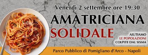 """""""Amatriciana solidale"""" per le vittime del terremoto a Pomigliano"""