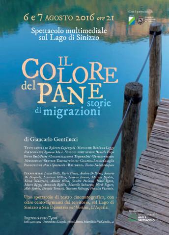 """""""Il Colore del Pane – storie di migrazioni"""": spettacolo sul Lago Sinizzo"""