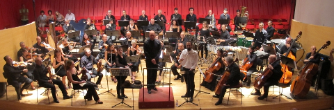 Nicola Campogrande con l'Orchestra sinfonica abruzzese