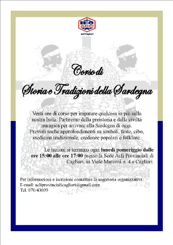 Corso di storia e cultura della Sardegna a Cagliari