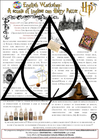Cagliari: a scuola di inglese con Harry Potter
