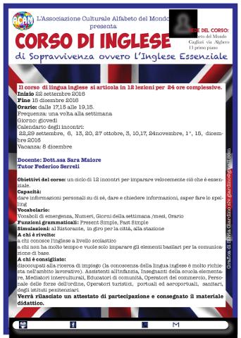 """Corso di inglese essenziale ovvero di """"sopravvivenza"""" a Cagliari"""