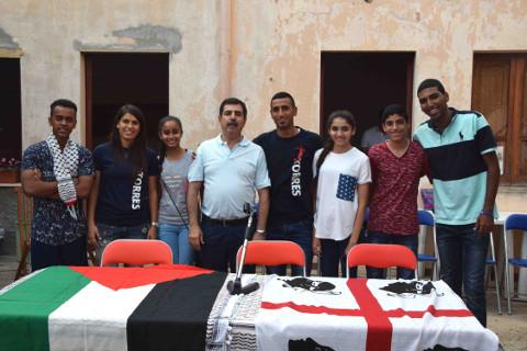 Atleti palestinesi a Monserrato per costruire ponti con lo sport