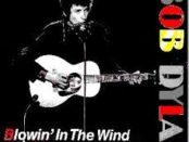 copertina di blowin in the wind di bob dylan