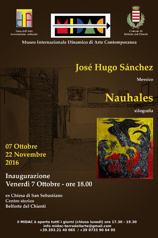 """""""Nahuales"""", personale di José Hugo Sánchez a Belforte del Chienti"""