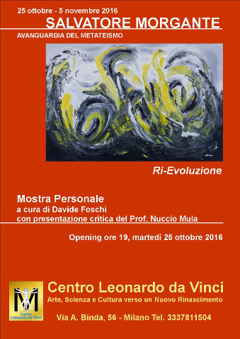 """""""Ri-Evoluzione"""", mostra di Salvatore Morgante a Milano"""
