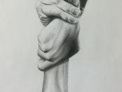 mani che si stringono come una fune