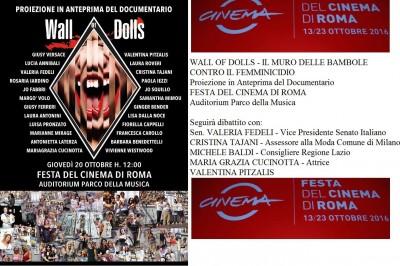 """Alla Festa del Cinema di Roma il docufilm """"Wall of Dolls"""""""