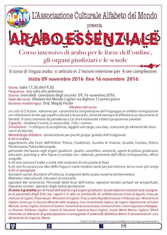 Cagliari: corso di arabo per Forze dell'ordine, organi giudiziari e scuole