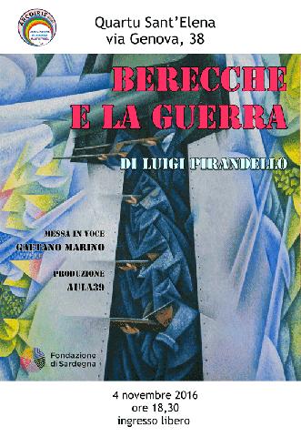 """Gaetano Marino in """"Berecche e la Guerra"""" a Quartu Sant'Elena"""