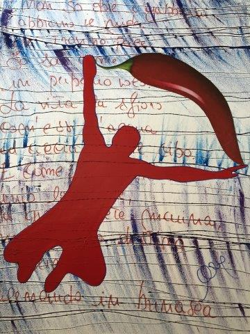 """La mostra """"Il rosso e il peperoncino piccante"""" a Marina di Pietrasanta"""