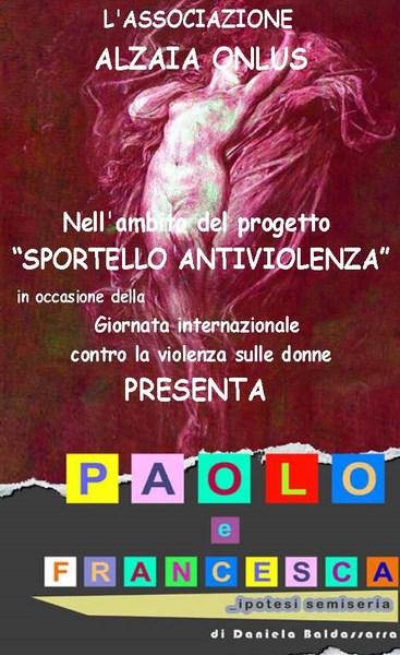 A Taranto uno spettacolo di Daniela Baldassarra per il mese antiviolenza