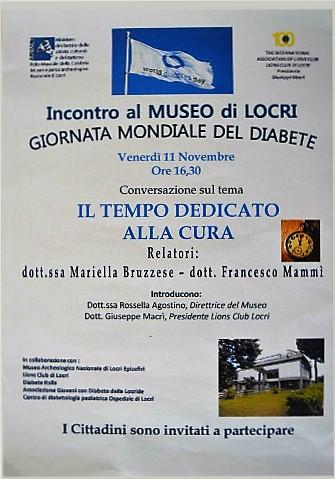 Giornata mondiale del diabete 2016 a Locri