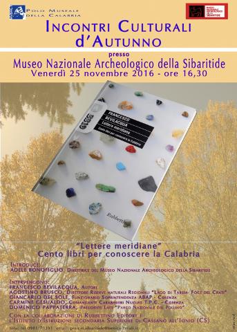 Incontri culturali d'autunno a Sibari – Cassano Allo Ionio
