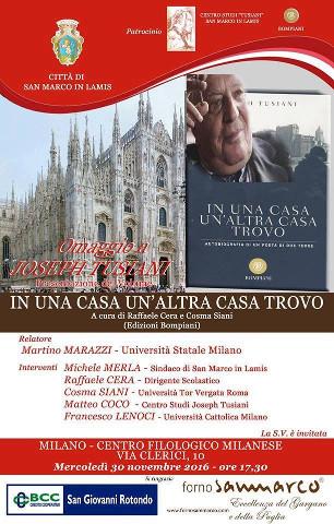 Omaggio a Joseph Tusiani a Milano