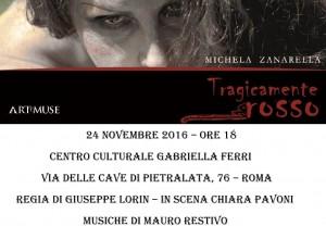 il monologo tragicamente rosso a roma