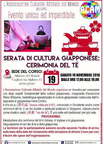 Serata di cultura giapponese con cerimonia del tè a Cagliari