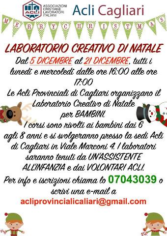 Laboratorio creativo di Natale per bambini a Cagliari