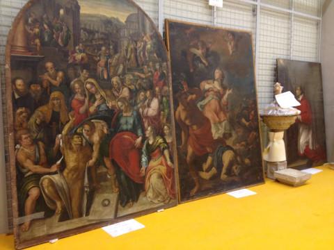 opere d'arte danneggiate dal sisma