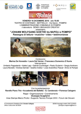Pompei omaggia il Grand Tour di Goethe