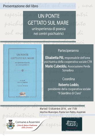 """Presentazione del libro """"Un ponte gettato sul mare"""" ad Assemini"""