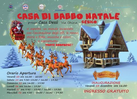casa di Babbo Natale a Gesico