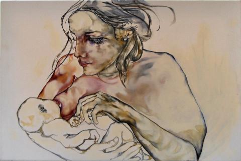 madre che allatta un bimbo