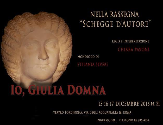 Le donne di Roma antica in scena al Teatro Tordinona