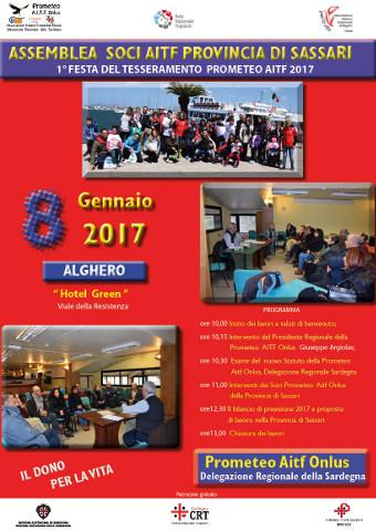La Prometeo organizza due feste del tesseramento a Cagliari e Alghero