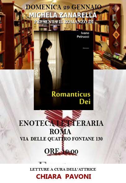 """Presentazione del libro """"Romanticus Dei"""" di Ivano Petrucci a Roma"""