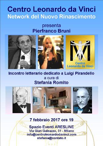 Incontro su Pirandello con Pierfranco Bruni a Milano