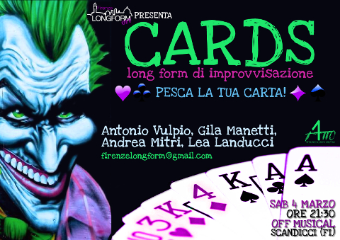 """Cards"", spettacolo di improvvisazione teatrale a Scandicci"