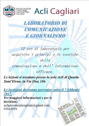 Nuovo laboratorio di comunicazione e giornalismo a Cagliari